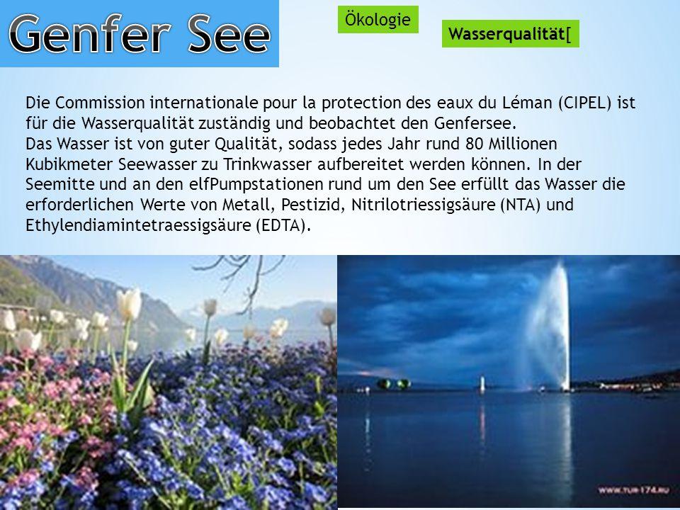 Genfer See Ökologie Wasserqualität[